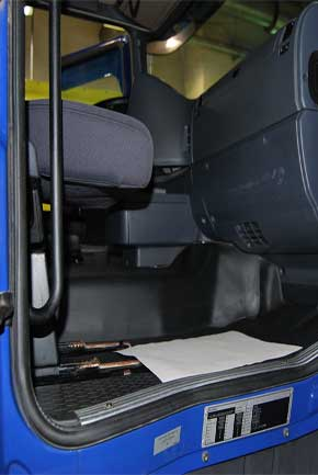 Truck interior cleaning services